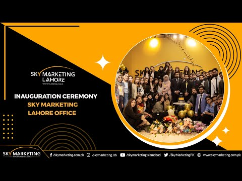 Inauguration of New Office Sky Marketing Lahore | New Milestone in the Success of Sky Marketing