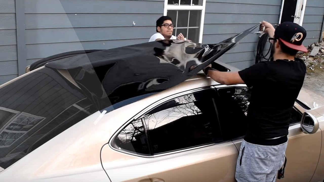 How To Vinyl Wrap A Caru0027s Roof