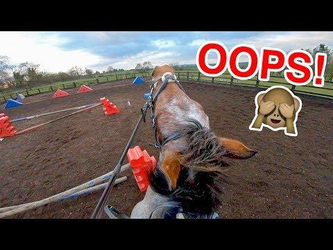 Jump takes Casper by surprise!   Helmet Cam