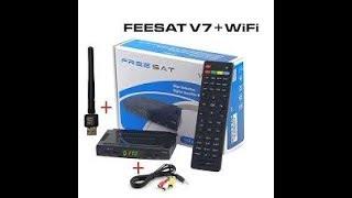 Спутниковый ресивер FREESAT V7 Посылка с AliExpress