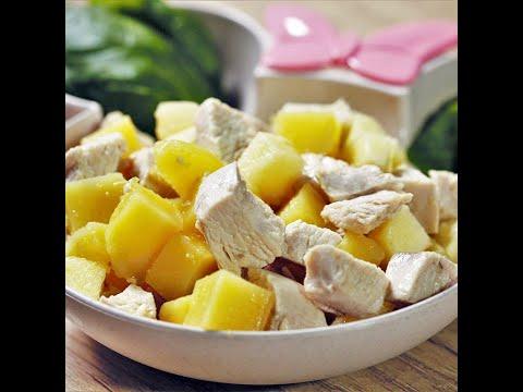 Salată din piept de pui cu cartof și măr