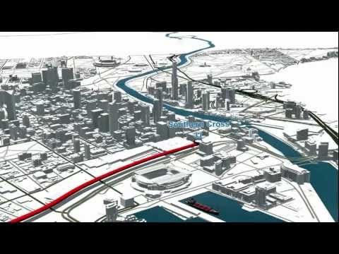 Regional Rail Link: Route overview animation