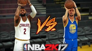 NBA 2K17 Stephen Curry vs Kyrie Irving - (3 Point Shot Duel)