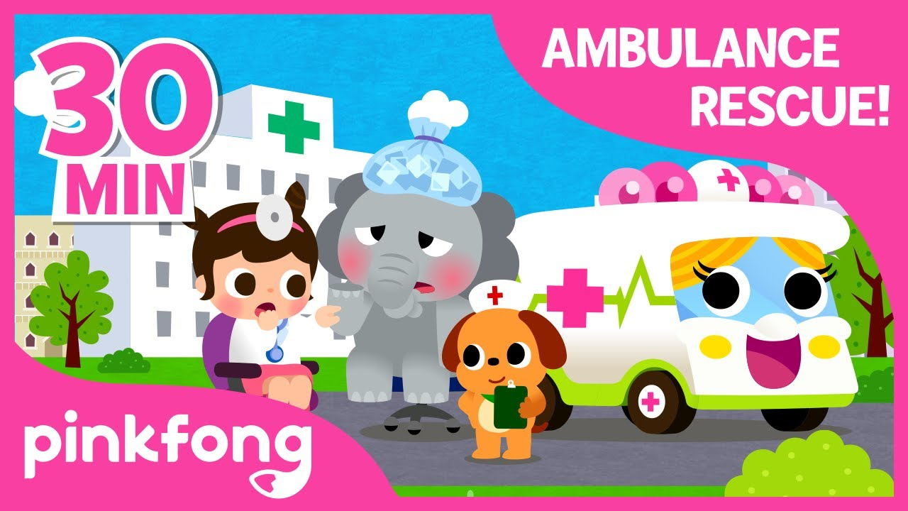 Doctor I'm Sick! | +Compilation | Ambulance Rescue | Pinkfong Songs for Children