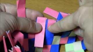 チラシで作るカゴ編み Part 3 thumbnail