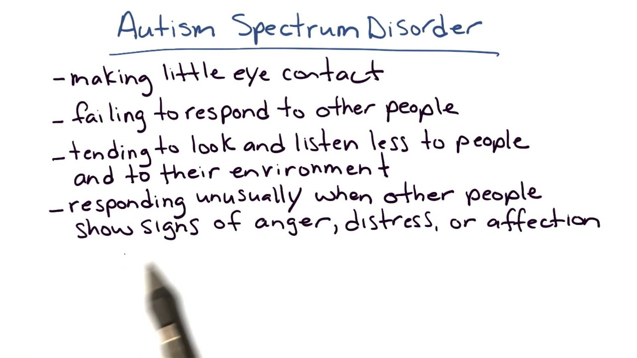 Autism spectrum disorder Intro to Psychology