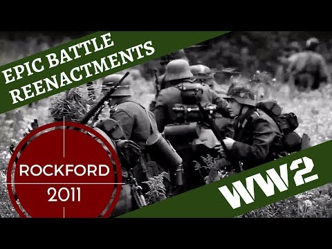 Epic WW2 Reenactment [German Victory] -- Rockford 2011