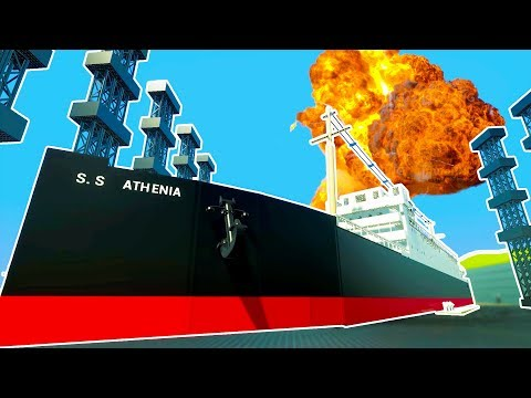 LARGEST LEGO CRUISE SHIP EVER MADE HAMMERED TO OBLIVION! - Brick Rigs Workshop Creations Gameplay