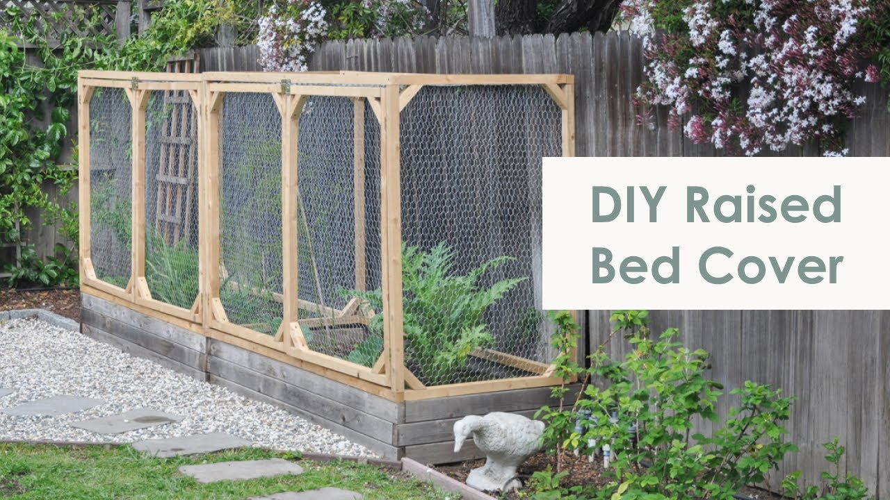 diy raised garden bed cover | how to protect your