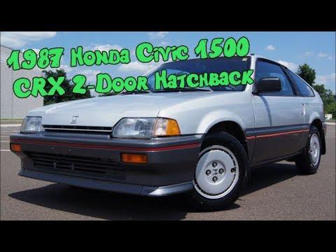 1987 Honda Civic 1500 Crx 2 Door Hatchback With Only 56k Miles Hatch
