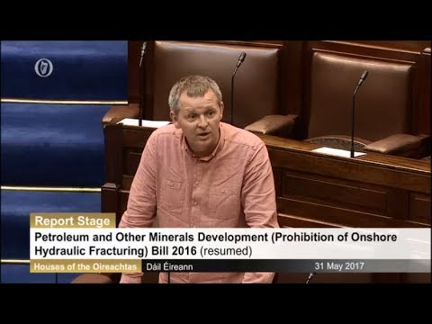 Fracking ban bill Ireland - Dáil Éireann debate and vote, Wednesday, 31 May 2017
