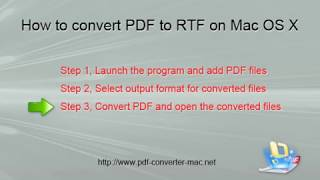how to Convert PDF to Rich Text Format? PDF to RTF Converter