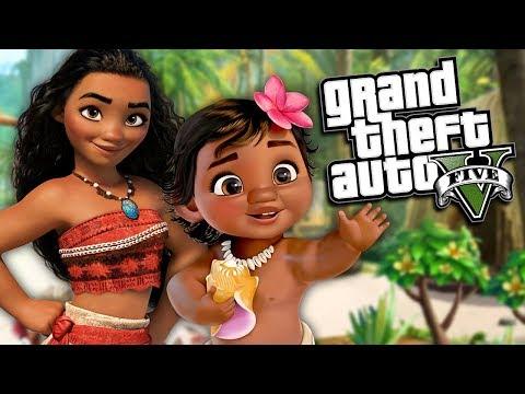 GTA 5 Mods - MOANA MOD (GTA 5 PC Mods Gameplay)