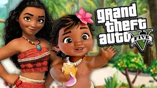 GTA 5 Mods - MOANA MOD (GTA 5 PC Mods Gameplay)