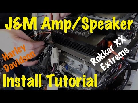 Install J&M Audio Rokker XX Extreme Front Fairing Amplifier & Speakers on Harley 2014 & Newer