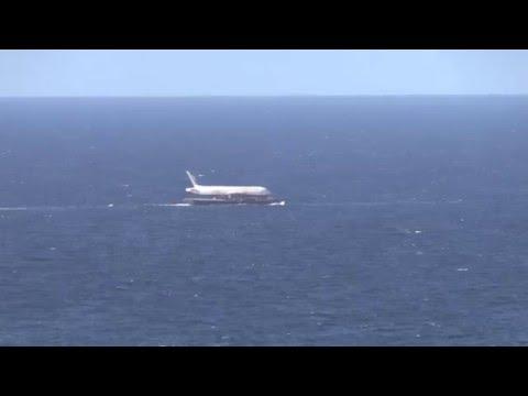 Boeing 767 floating on the Atlantic Ocean