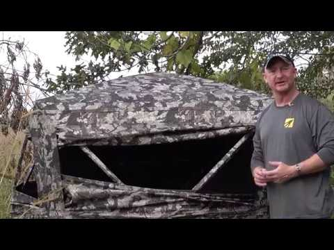 HME 3-Person Executioner Ground Blind Veil Camo By GSM Outdoors