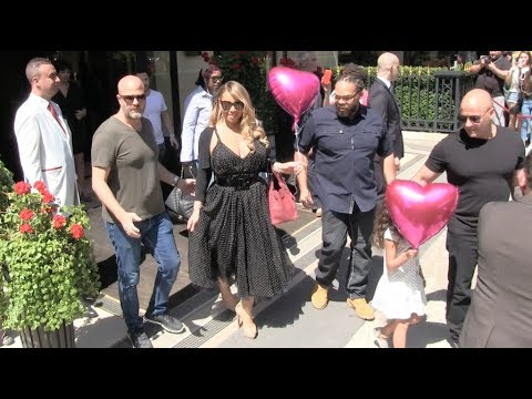 Very nice Mariah Carey and Twins Moroccan and Monroe with ballons in Paris