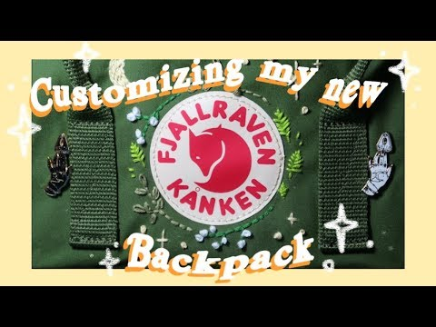 Customizing My New Fjallraven Kanken | Keely Elle