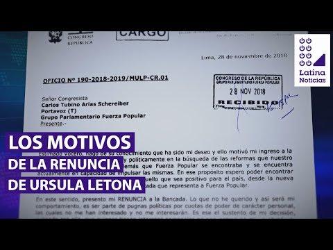 Úrsula Letona: ¿cuáles fueron los motivos de su renuncia a Fuerza Popular? | 90 Central
