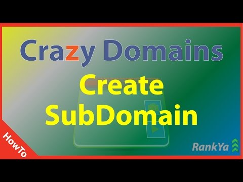 How to Create a Subdomain Crazy Domains