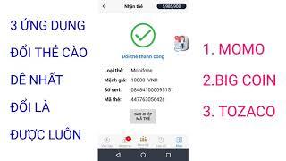 Video Đổi Thẻ Cào 3 Ứng Dụng Ví Momo, Bigcoin, Tozaco