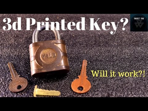 3d Printed Key? Functional 3d Printed Replacement Key...Will it Work?
