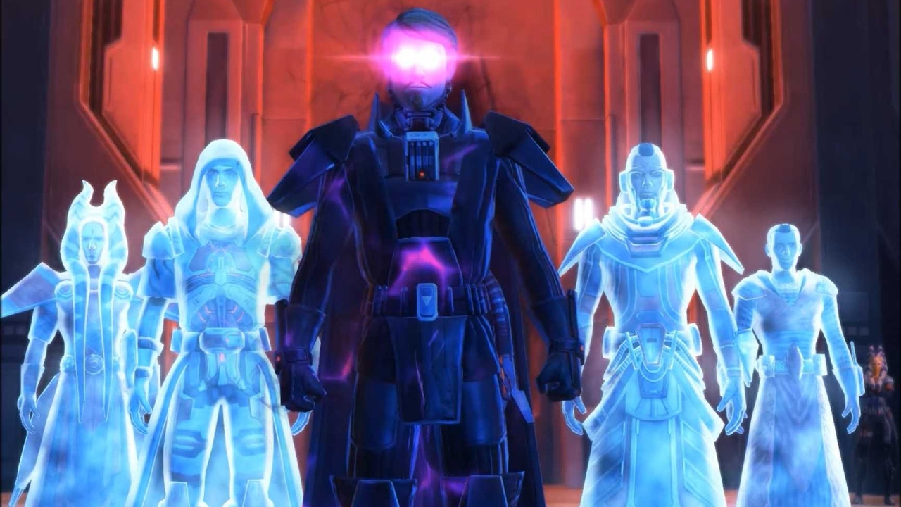 Darth Baras, Darth Marr and Darth Nox vs Exar Kun and Ulic Qel Droma  Maxresdefault