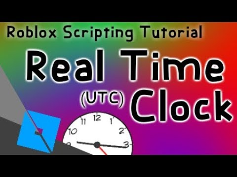 ROBLOX - How to make a clock that shows real time (UTC)