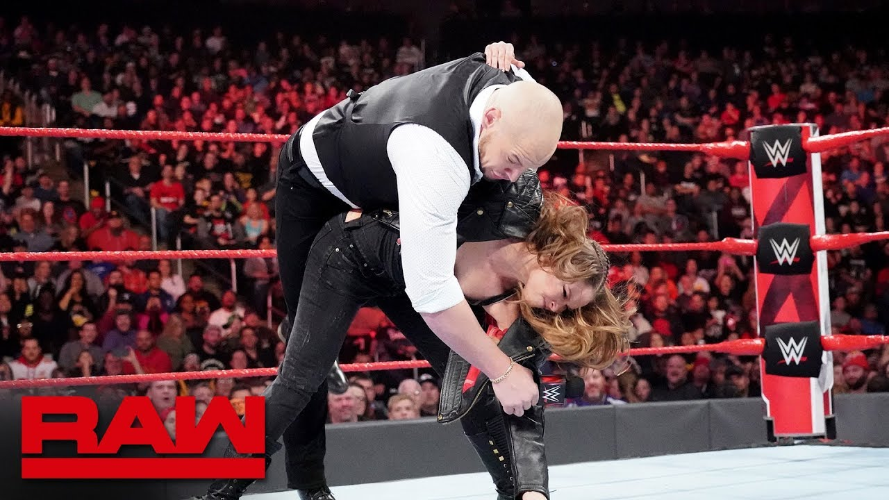 Image result for Ronda Rousey drops Baron Corbin: Raw, Nov. 12, 2018
