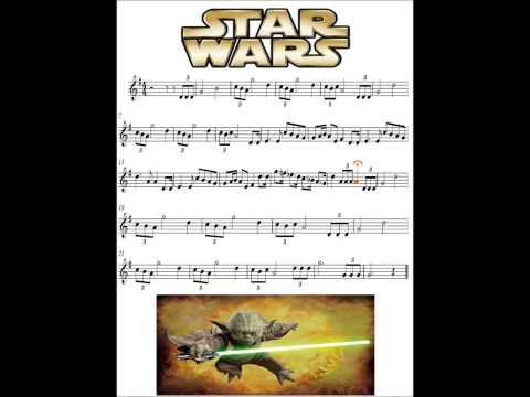 Partitura Animada Star Wars