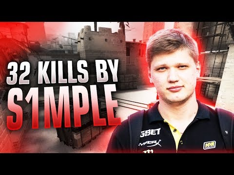 CS:GO - s1mple 32 frags on Mirage @ FPL
