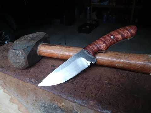 NO FORGE? NO PROBLEM- Making A Hunting Knife From A Broken Old Pry Bar