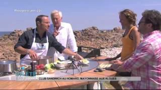 RECETTE : Club sandwich au homard, mayonnaise aux algues