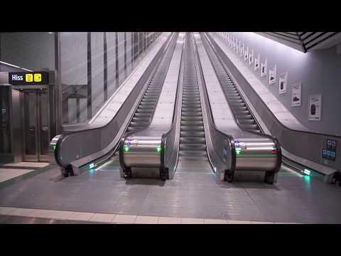 Sweden, Stockholm Odenplan subway station, 17X escalator, 8X elevator ride