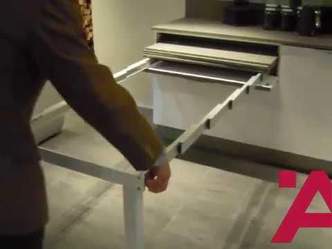 Meccanismo per tavolo estraibile con telaio di sostegno - YouTube