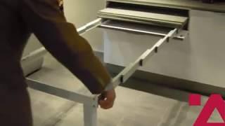 Meccanismo Per Tavolo Estraibile Con Telaio Di Sostegno Youtube
