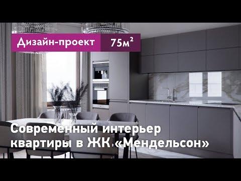 Современный интерьер двухкомнатной квартиры в Санкт-Петербурге в ЖК Мендельсон. Планировки