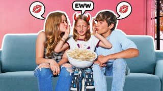 My Little Sister THIRD WHEELING My Date With My CRUSH **awkward** |Claire Rocksmith