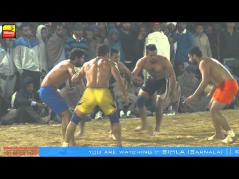 BIHLA (Barnala) ! KABADDI CUP-2016 ! OPEN 2nd QUARTER FINAL! MANUKE GILL v/s DHALIWAL BET ! Part 3rd