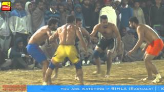 BIHLA (Barnala) ! KABADDI CUP-2016 ! OPEN 2nd QUARTER FINAL! MANUKE GILL v/s DHALIWAL BET ! Part 3rd