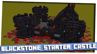 Minecraft 1.16 - Blackstone Starter Castle|Small Blackstone Castle|Step By step build|