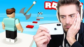 Trying Roblox on MOBILE for the FIRST TIME!