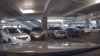 Exiting Car Returning to Seattle-Tacoma International Airport Rental Car Facility