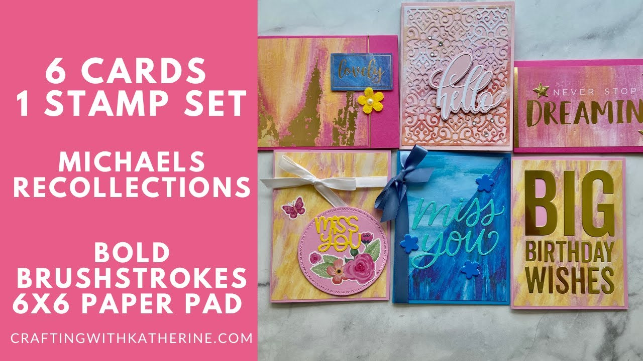 221 Cards  21 Paper Pad - Michaels Recollections Bold Brushstrokes 221x221 Paper  Pad With Recollections Cards And Envelopes Templates