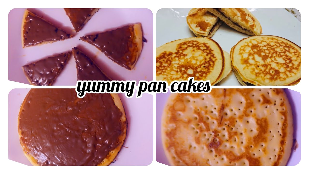 HOW TO MAKE YUMMIEST PAN CAKES || NUTELLA PAN CAKE SANDWICH WITHOUT EGG #pancake  #doracakerecipe