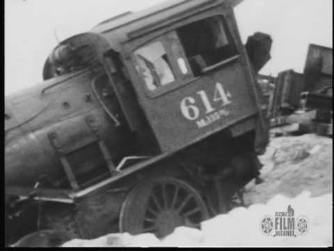Derailed Alaska Railroad Steam Engine near Anchorage