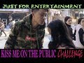 KISS ME ON THE PUBLIC CHALLENGE | GIRL KISSES GUY ON THE PUBLIC