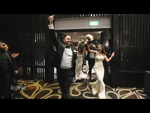 group-bridal-party-entry-at-a-lebanese/italian-wedding
