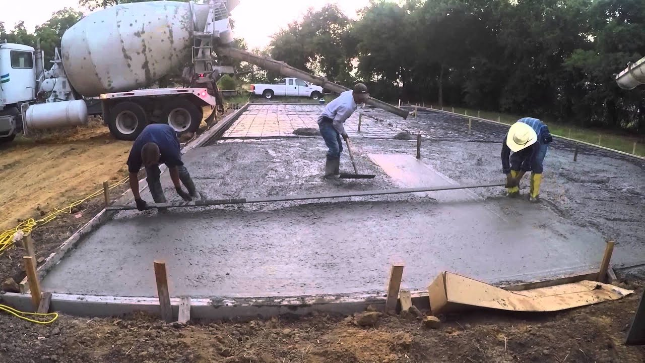 How To Pour A Concrete Slab You